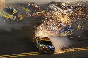 Kyle Busch during the 2012 Budweiser Shootout Photo- Getty Images