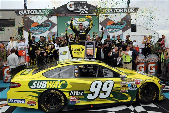 Edwards and his crew celebrate in victory lane Photo- Getty Images