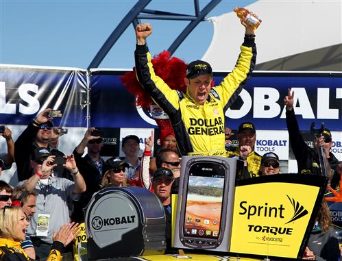 Kenseth celebrates in victory lane. Photo- Getty Images