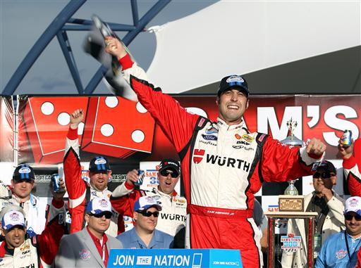Sam Hornish Jr. celebrates in victory lane at Las Vegas Photo- Getty Images