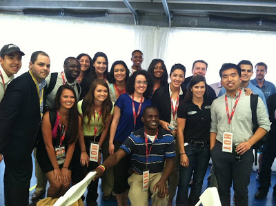 Sprint Cup driver, Danica Patrick, took a moment to pose with the group
