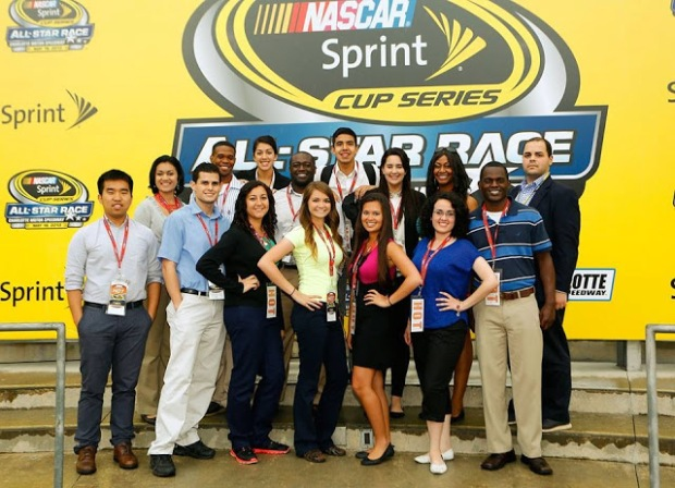 The 2013 NASCAR Diversity Interns  Pictured in the 2nd row-far right is NASCAR Diversity Affairs team member Kristian Vazquez-Diaz