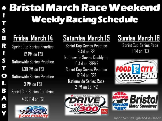 Bristol March Schedule