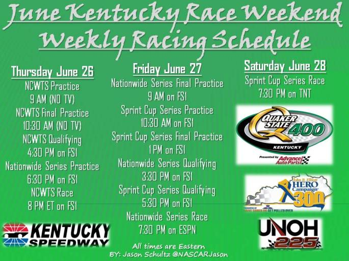 KY track sched