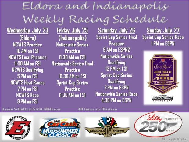 Eldora and Indy Track Sched